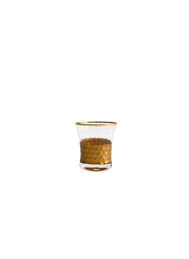 Abka Kristal Altın Petek 6'Lı Kalın Kısa Bardak Renkli